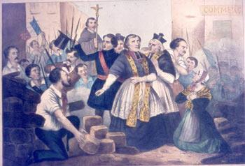 Mgr Affre sur les barricades (juin 1848)