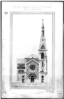 Projet de façade av. Ledru-Rollin (1900)