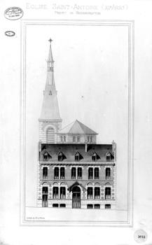 Projet côté rue Traversière (1900)