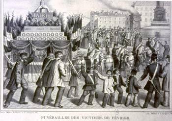 Funérailles des victimes de février 1848